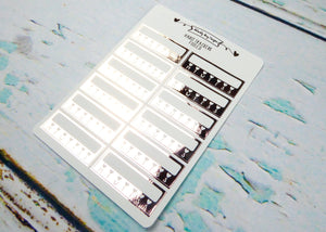 Foiled Habit Tracker Reminder Planner Stickers for any Planner or Insert - Adorably Amy Designs