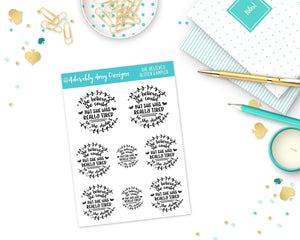 Glitter She Believed She Could Sampler Planner Stickers for Erin Condren, Plum Planner, Inkwell Press, Kikki K or Any Size Planners - Adorably Amy Designs