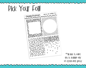 Foiled Clear Confetti Dots Borders V5 Overlay Boxes Planner Stickers for any Planner or Insert - Adorably Amy Designs