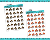 Planner Girls Character Stickers Emotis V1 Planner Stickers for any Planner or Insert - Adorably Amy Designs