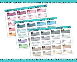 Rainbow Bow Polkadot Quarter Box Planner Stickers for Erin Condren, Plum Planner, Inkwell Press, Kikki K or Any Size Planners