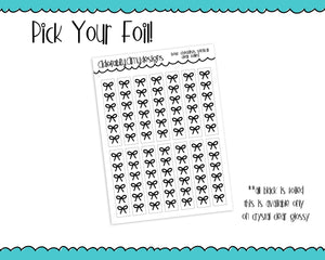 Foiled Bows V3 Checklist Vertical or Horizontal Planner Stickers for Erin Condren, Plum Planner, Inkwell Press, or Any Size Planners - Adorably Amy Designs