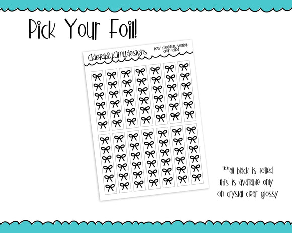 Foiled Bows V3 Checklist Vertical or Horizontal Planner Stickers for Erin Condren, Plum Planner, Inkwell Press, or Any Size Planners