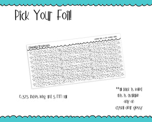 Foiled Confetti Dots 5 MM OR 10 MM Clear Overlay Planner Sticker Strips for any Planner or Insert - Adorably Amy Designs