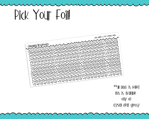 Foiled Faux Glitter 5 MM OR 10 MM Clear Overlay Planner Sticker Strips for any Planner or Insert - Adorably Amy Designs