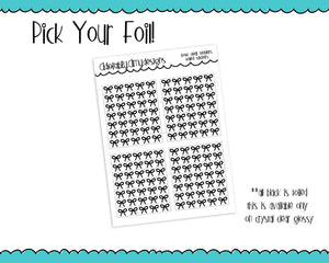 Foiled Bows V3 Clear Header Overlays Planner Stickers for any Planner or Insert - Adorably Amy Designs