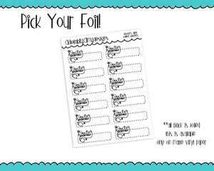Foiled Doodled Doctor Appointment Reminder Planner Stickers for any Planner or Insert - Adorably Amy Designs