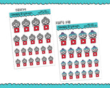 Planner Girls Character Stickers Online Video Watching Planner Stickers for Erin Condren, Plum Planner, Inkwell Press, or Any Size Planners