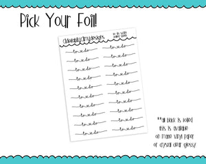 Foiled To Do Script Reminder Planner Stickers for Erin Condren, Plum Planner, Inkwell Press, Kikki K or Any Size Planners - Adorably Amy Designs