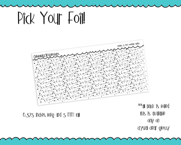 Foiled Hearts 5 MM OR 10 MM Clear Overlay Planner Sticker Strips for any Planner or Insert - Adorably Amy Designs