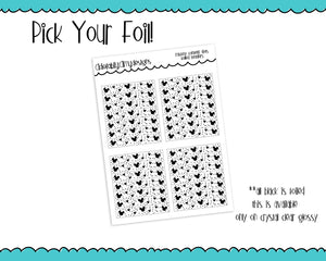Foiled Clear Mouse Head Confetti Header Overlay Planner Stickers for any Planner or Insert - Adorably Amy Designs