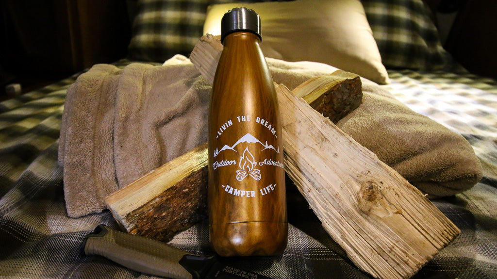 Rustic Camping Water Bottle