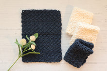 Load image into Gallery viewer, Cotton Washcloth - Navy