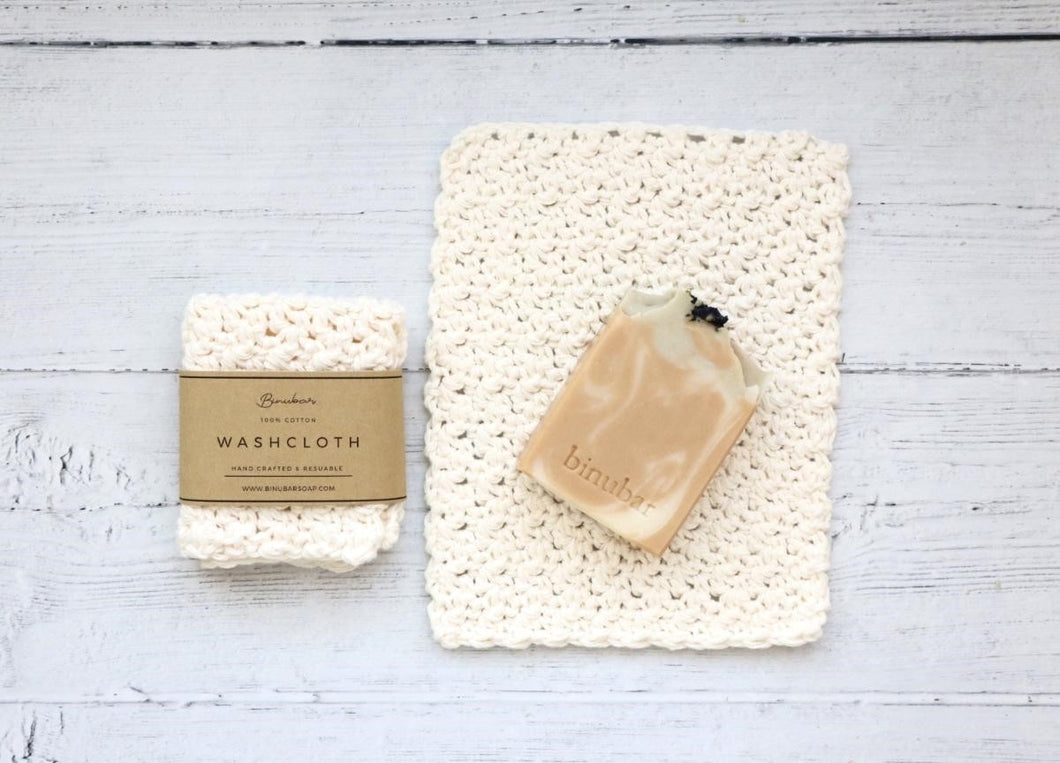 Cotton Washcloth - White