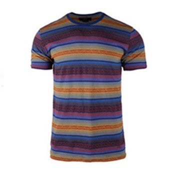 Men's Summer Casual Comfort Soft Crew Neck T-Shirt (BGKT 7091-MULTI)