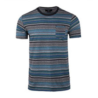 Men's--Casual-Comfort-Soft-Crew-Neck-Pocket-T-Shirt-(BGKT-7089-BLUE-CLOCK)
