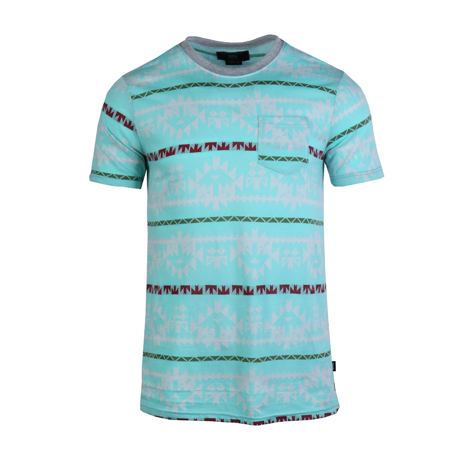 Men-Cotton-Full-Jacquard-Pocket-T-shirt
