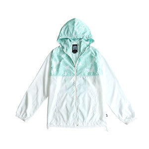 Men's Full Zip Outdoor Windbreaker( YS8J08-WHITE LAI)