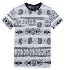 Men Cotton Print Striped  T-shirt (218106)