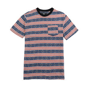 Men-Cotton-Print-Striped--T-shirt-(2184128)