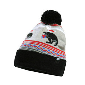 Unisex-Winter-Christmas-Pom-Pom-Knitted-Beanie-Stretch-Fit-Hat(YF7A04-P-BLACK)