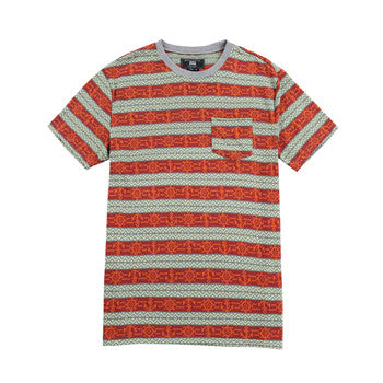 Men Cotton Print Striped  T-shirt (2184127)