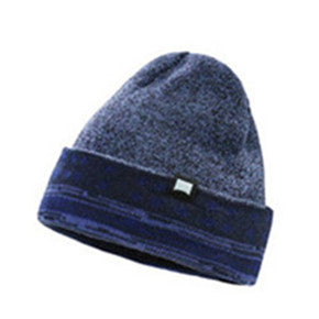 MEN'S-KNIT-BEANIE-STRETCH-FIT-CAP(YF7A03-NAVY)