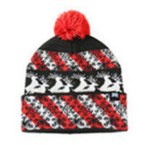 Men Women Winter Warm Up Pom Pom Knitted Beanie Cuff HAT CAP(YF8HBD04-BLACK)