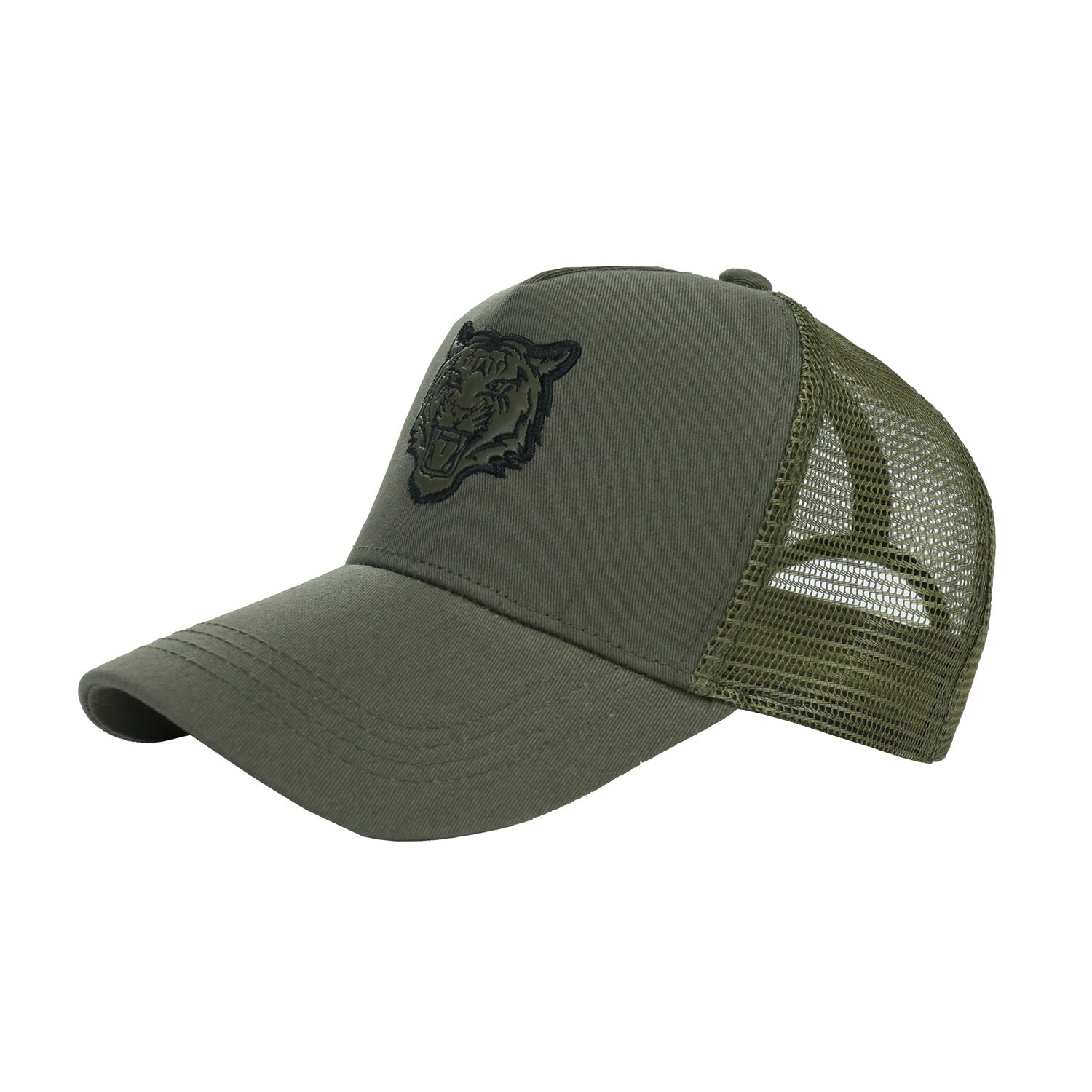 Men's Printed Trucker Adjustable Snapback Hat Cap(YF7A01-F SAGE)