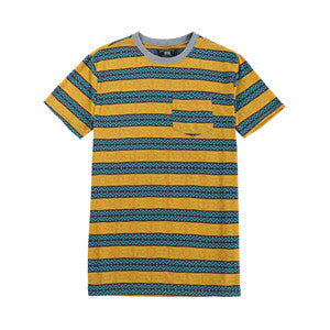Men Striped Print T-shirt (2184130)