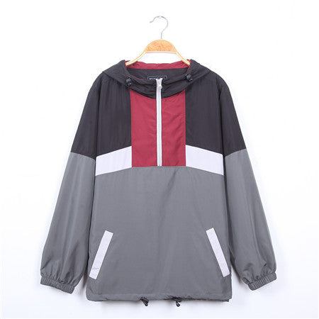 Men's-Hooded-Lightweight-Windbreaker(-YS8J04)