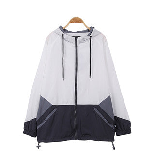 Men's Full Zip Outdoor Windbreaker( YS8J02-WHITE)