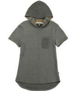 Men Short Sleeves Pocket Hoody (CYS8T19-ARMY)