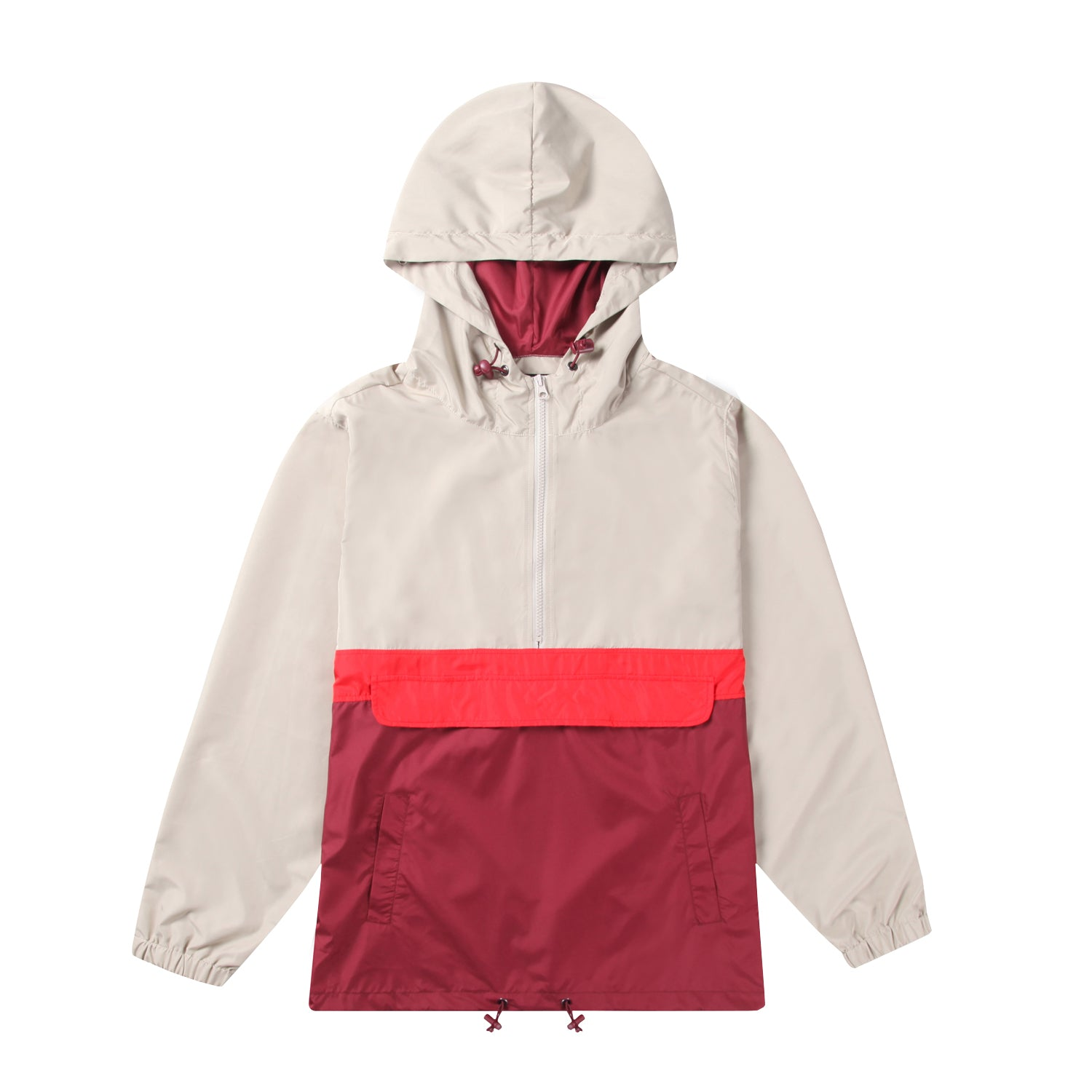 Men's Hooded Lightweight Windbreaker (YF7J01-RED)
