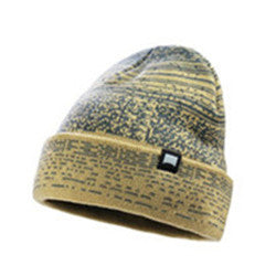 MEN'S KNIT BEANIE STRETCH FIT CAP(YF7A03-B-KHAKI)