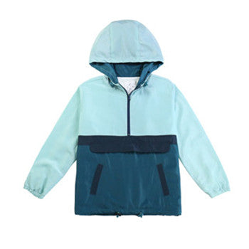 Men's Pullover Hooded Linde Windbreaker Jacket(BGWBL3034-MINT)
