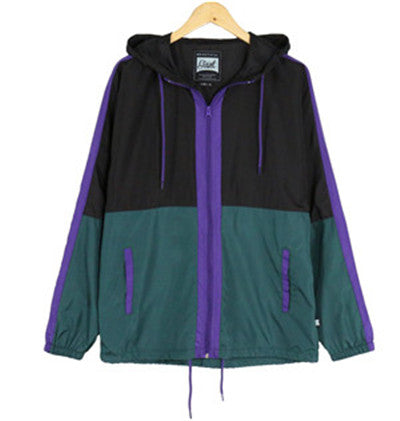 Men's Hooded Lightweight Windbreaker(YS8J13-GREEN)