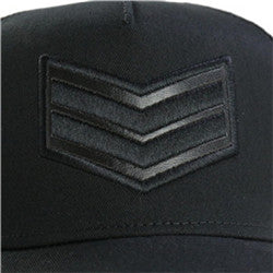 Men's Printed Trucker Adjustable Snapback Hat Cap(YF7A01-I BLACK)