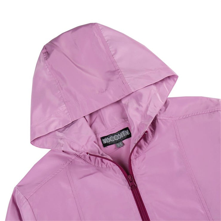 Women's Full Zip Outdoor Windbreaker(VBGJKTW005-MAUVE )