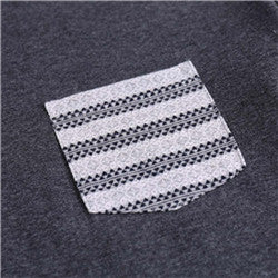 Men's Summer Casual Comfort Soft Crew Neck T-Shirt (BGKT 7137-WHITE/GREY JACQUARD)