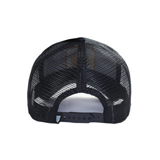MEN'S CHIEF HEAD SNAPBACK ADJUSTABLE MESH TRUCKER HAT (YF8TRUCBUR1-BLACK)