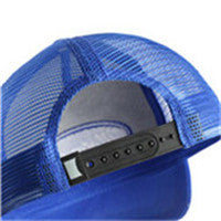 MEN'S CHIEF HEAD SNAPBACK ADJUSTABLE MESH TRUCKER HAT SPORTS BASEBALL CAP(BGCAP01-BLUE)