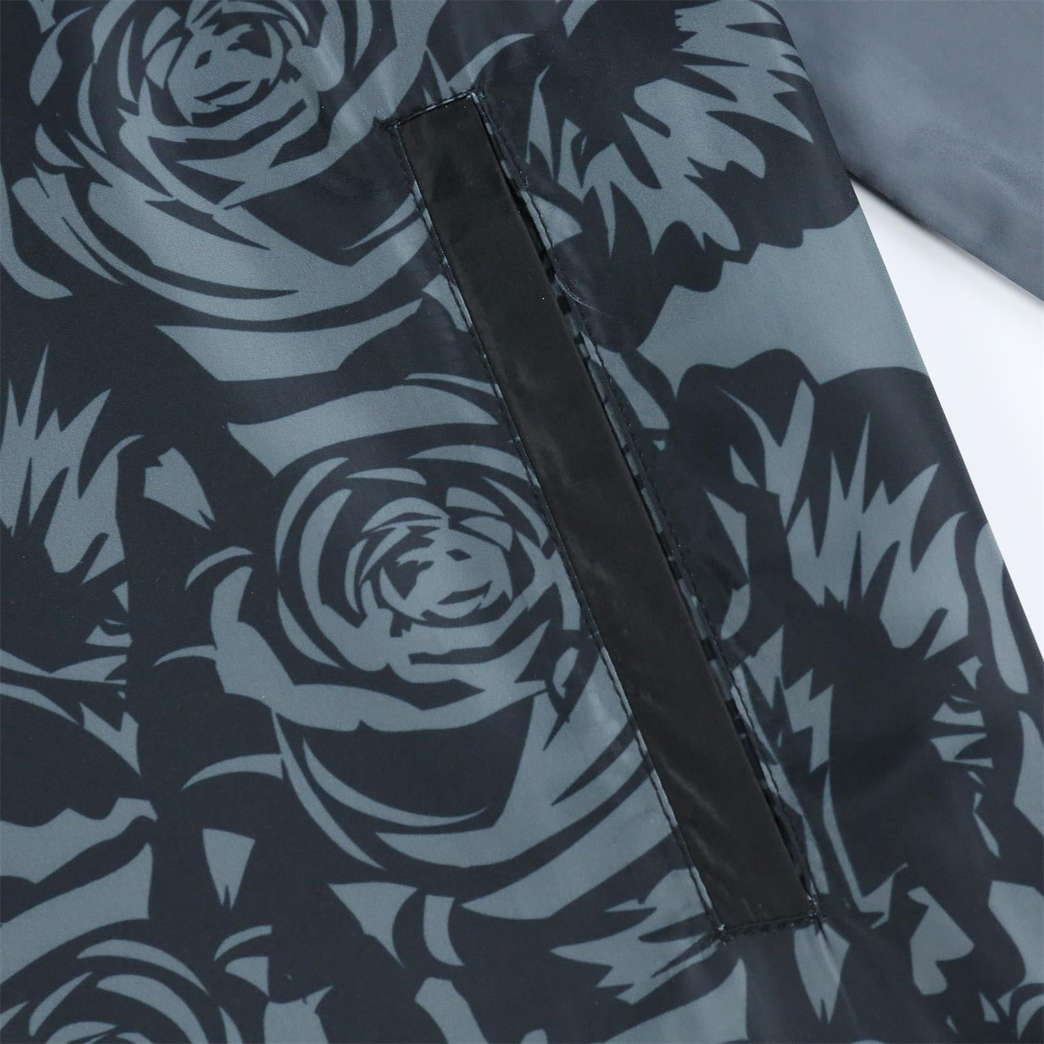 Men's Hooded Lightweight Windbreaker (YF8J17-BLACK FLORAL)