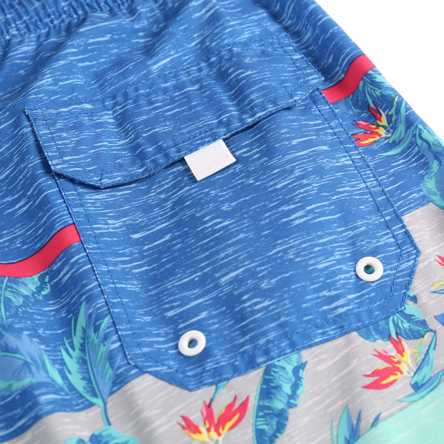 Men's Beach Vacation Swimwear  Shorts (BGT 2004-BLUE)