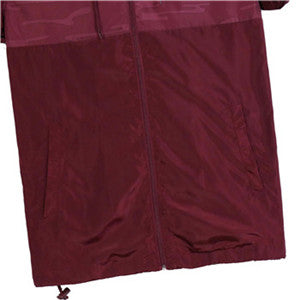 Men's Waterproof Lightweight Hooded Windbreaker(YS7J07-BURGUNDY)