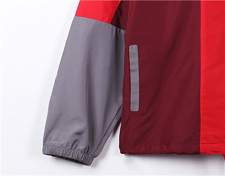 Men's Hooded Lightweight Windbreaker( YS8J14-DRAGON/RED)