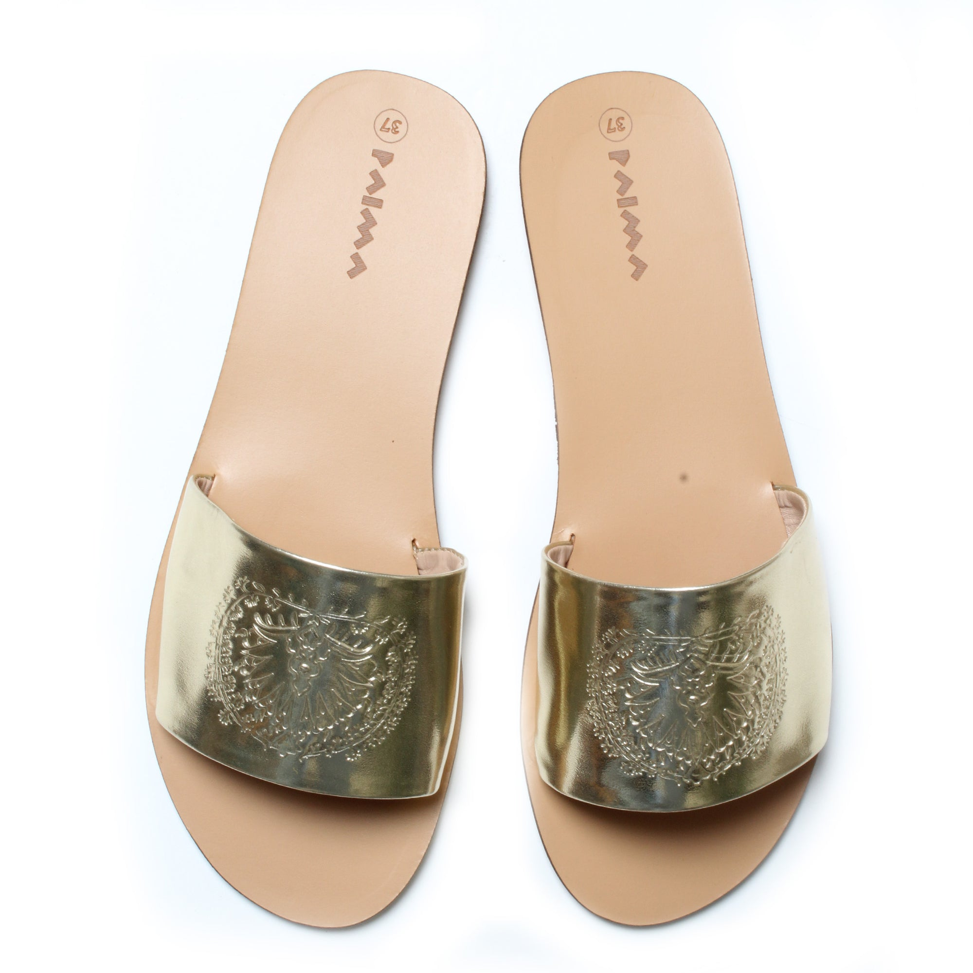 Slides Peacock Gold