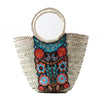 Wicker Bag Black hummingbird Large