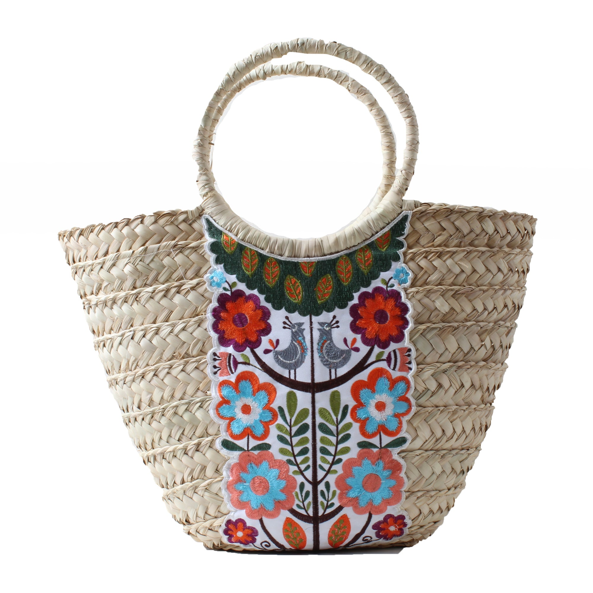 Wicker Bag White Hummingbird Large