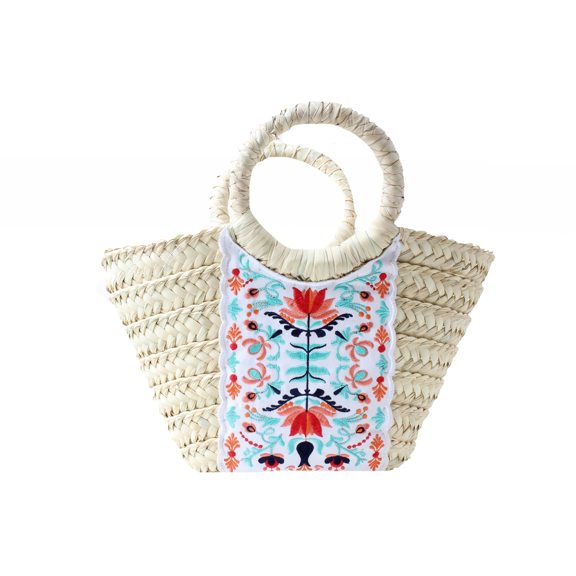 Wicker Bag White Sun House Small
